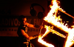 "El festival de fuego ""Around the World"" en Vladivostok"